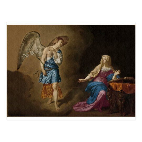 Annunciation Angel and Mary Postcard