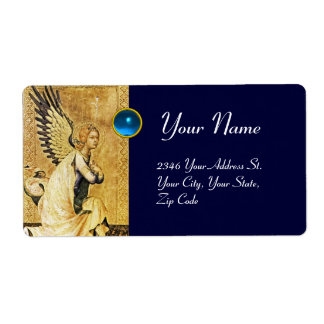 ANNUNCIATION ANGEL Blue Sapphire Personalized Shipping Labels