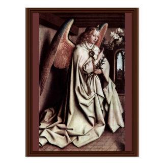 Annunciation Angel By Eyck Hubert Van Postcard