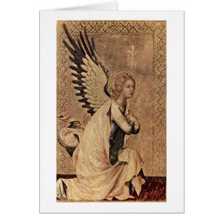 Annunciation Angel By Simone Martini Card