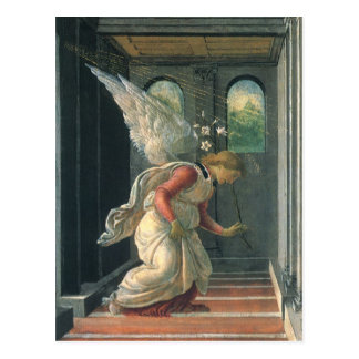 Annunciation (angel detail) by Sandro Botticelli Postcard