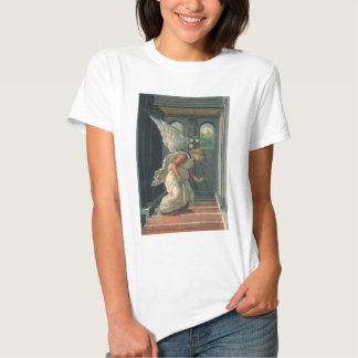 Annunciation (angel detail) by Sandro Botticelli T Shirt