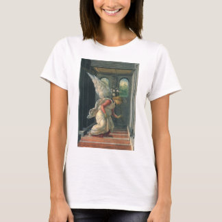 Annunciation (angel detail) by Sandro Botticelli T-Shirt