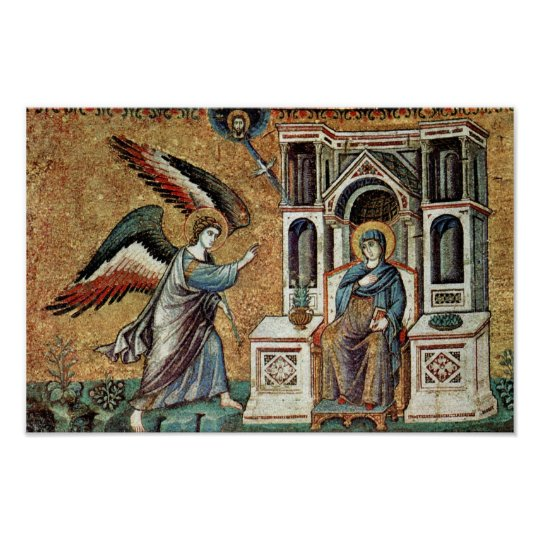 Annunciation By Cavallini Pietro (Best Quality) Poster