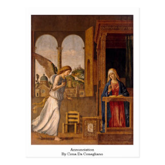 Annunciation By Cima Da Conegliano Postcard