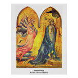Annunciation By Don Lorenzo Monaco Poster
