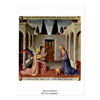Annunciation By Fra Angelico Postcard
