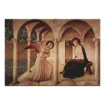 Annunciation (by Fra Angelico) Poster