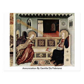 Annunciation By Gentile Da Fabriano Postcard