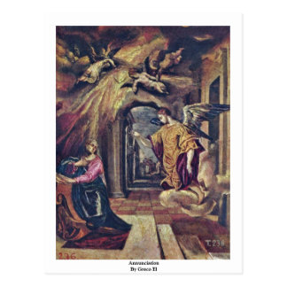 Annunciation By Greco El Postcard