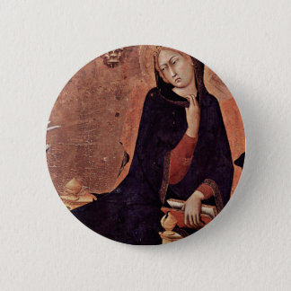 Annunciation  By Martini Simone (Best Quality) 2 Inch Round Button