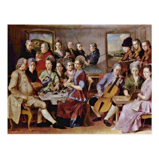 Annunciation  By Pontormo Jacopo Postcard