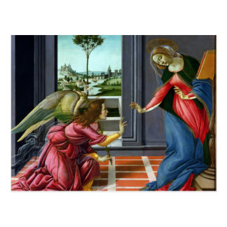 Annunciation by Sandro Botticelli Postcard