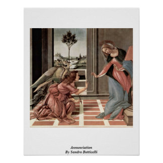 Annunciation By Sandro Botticelli Poster