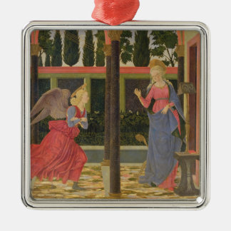 Annunciation, c.1457 (tempera on panel) Silver-Colored square ornament