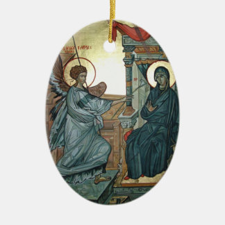 Annunciation Ceramic Oval Ornament