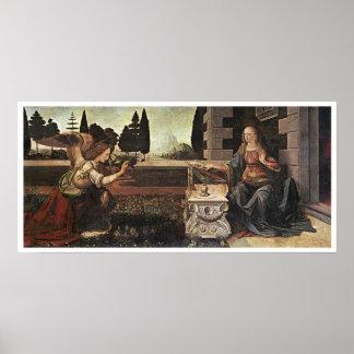 Annunciation, Leonardo da Vinci, 1473 Poster