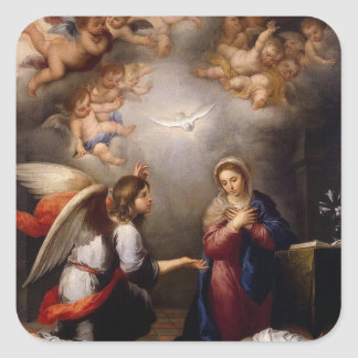 Annunciation of Mary Angel Gabriel Square Sticker