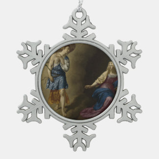 Annunciation of Mary, Velde Pewter Snowflake Ornament