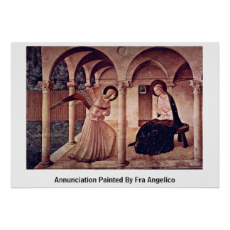 Annunciation Painted By Fra Angelico Poster