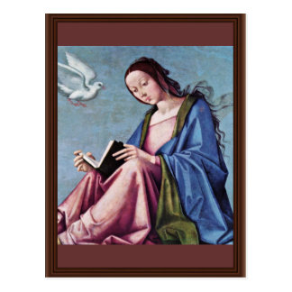 Annunciation (Reading Mary) By Lorenzo Costa Postcard