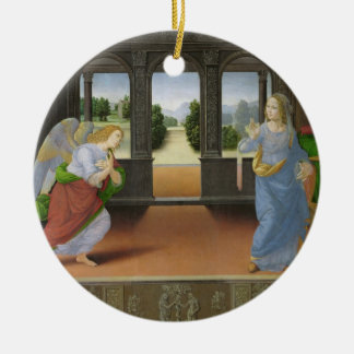 Annunciation Round Ceramic Ornament