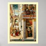 Annunciation ,Saint Emidius and an UFO Poster