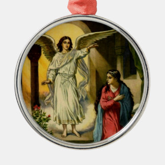 Annunciation Silver-Colored Round Ornament