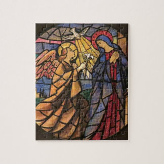 Annunciation Stained Glass Window Puzzle Italy