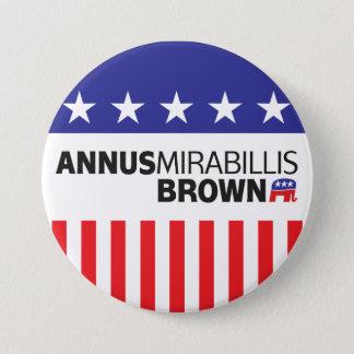 Annus Mirabillis Brown 3 Inch Round Button