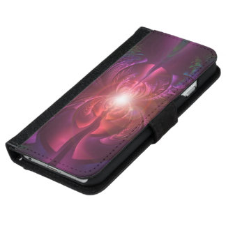 Anodized Eyes and Fractal Oxide Peacock Feathers iPhone 6 Wallet Case