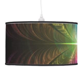 Anodized Rainbow Eyes and Metallic Fractal Flares Pendant Lamp
