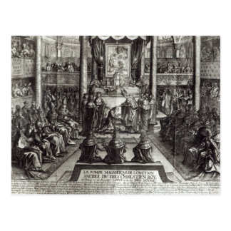 Anointing of Louis XIV  at Reims Postcard