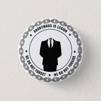Anonymous Badge 1 Inch Round Button