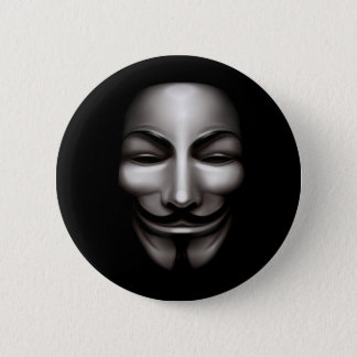 Anonymous Badge (Black) 2 Inch Round Button