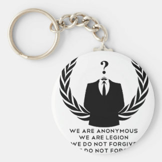 Anonymous Basic Round Button Keychain