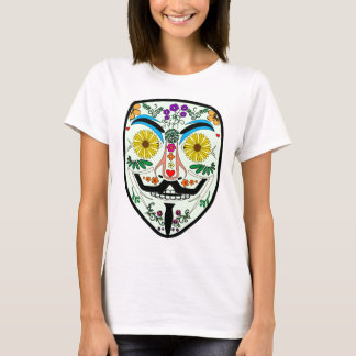 ANONYMOUS Day of the Dead 2 Art Anon Mask 4Chan T-Shirt