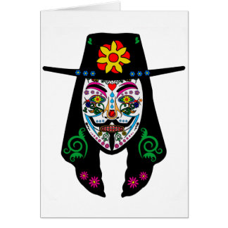 ANONYMOUS Day of the Dead 7 Anon Mask Sugar skull Card