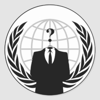 Anonymous Flag Round Stickers
