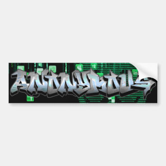 Anonymous Graffiti Bumper Sticker