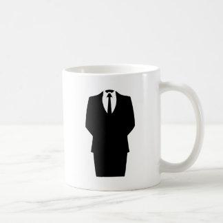 anonymous icon internet 4chan SA Basic White Mug