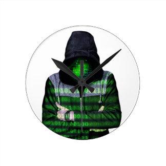 Anonymous Internet Hacker Wallclock