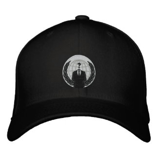 anonymous logo embroidered hat