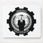 Anonymous Manufacturing Mousepad