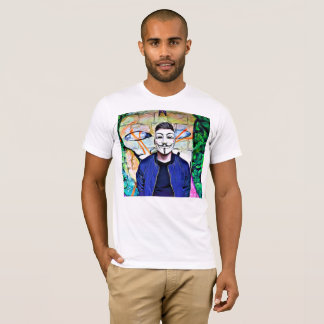 Anonymous Mask Truth & Justice Seeker Graffiti T-Shirt