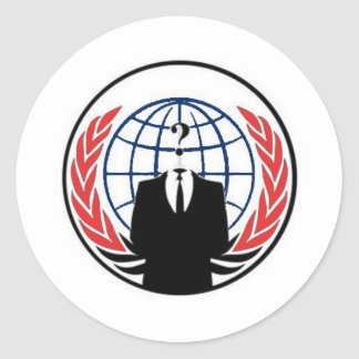 #anonymous ops classic round sticker
