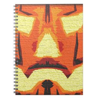 Anonymous Pumpkin Spiral Notebook