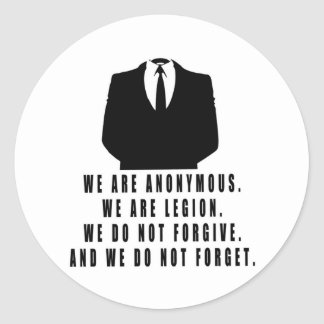 Anonymous Round Sticker
