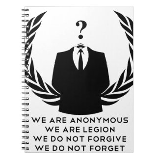 Anonymous Spiral Note Book