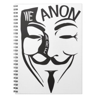 Anonymous Spiral Note Books